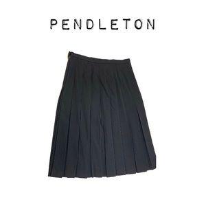 Pendleton 100% virgin wool pleated midi skirt